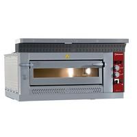 elektromos 1 aknás pizzasütő kemence, 4 db Ø350 mm-es pizza kapacitással