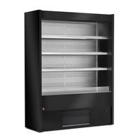 700 mm-es hűtött faliregál, ventilációs, fekete