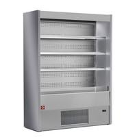 1000 mm-es hűtött faliregál, csökkentett mélységgel, ventilációs, szürke