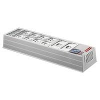 asztali mobil feltéthűtő, 7*GN 1/3 kapacitással, +2/+10°C
