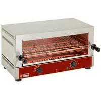 elektromos 1 szintes toaster-szalamander, 520x320 mm-es sütőráccsal