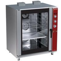 gázos légkeveréses cukrászati sütő, 10 tálcás, automatikus párásítással