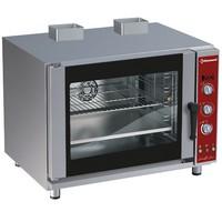 gázos légkeveréses cukrászati sütő, 5 tálcás, automatikus párásítással