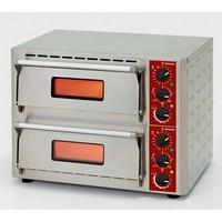 elektromos 2 aknás pizzasütő, 1+1 db Ø430 mm-es pizza kapacitással