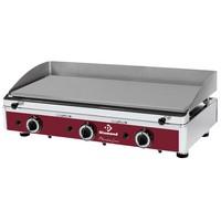 asztali gázos sütőlap, 800x*400 mm-es polírozott acél lappal