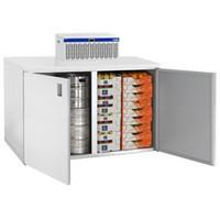 1800 literes mobil hűtőkamra, lapraszerelve, +2/+8°C