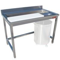 zöldség mosó és előkészítő asztal, 1200 mm-es